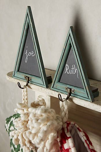 Chalkboard Tree Stocking Holders