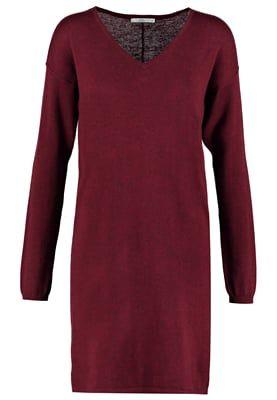 Gebreide jurk - bordeaux red