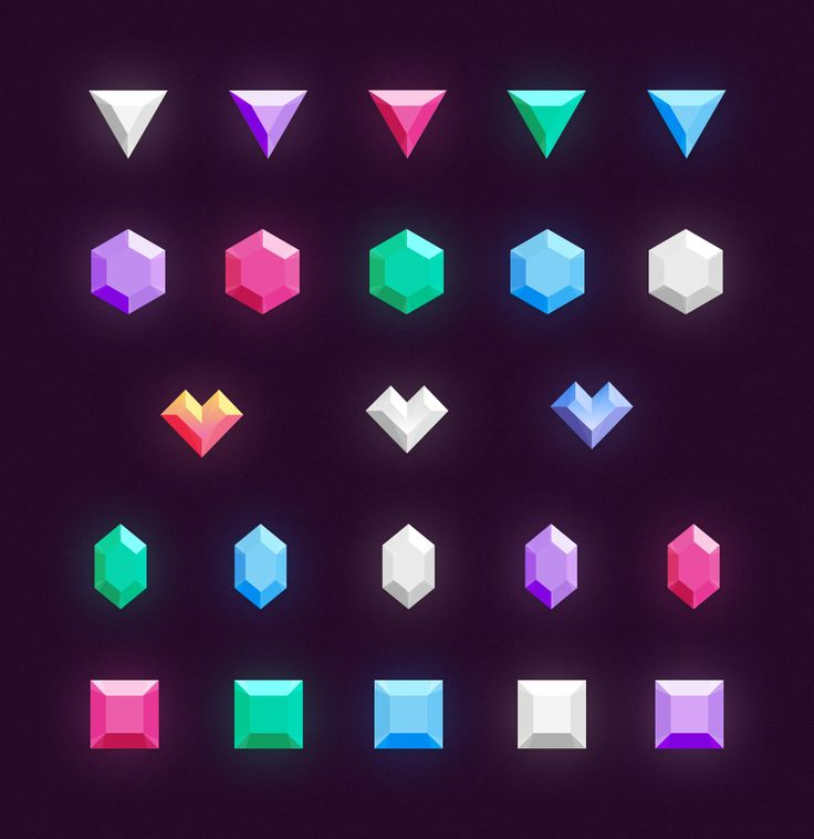 Icons: Gems & Diamonds