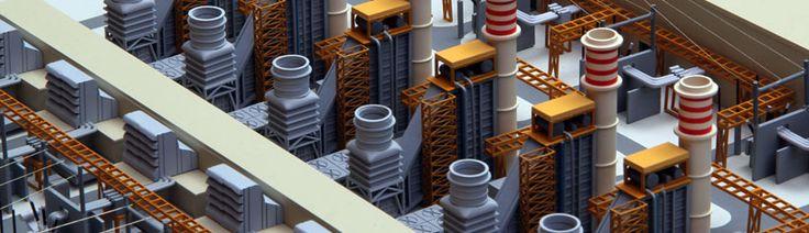 Project: Khorramshahr Power House Material: Polyvinyl Chloride, Acrylonitrile Butadiene Styrene  Scale: 1/1000