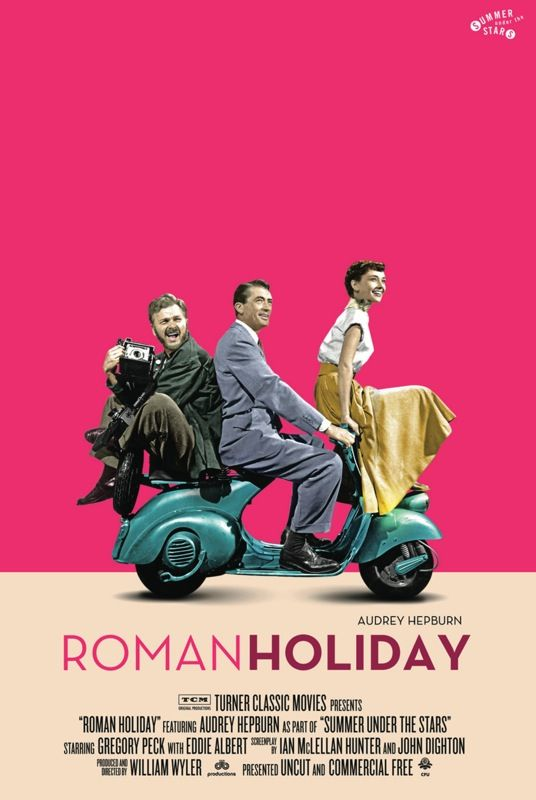 Roman Holiday (1953) Poster by William Wyler.  A very well made movie