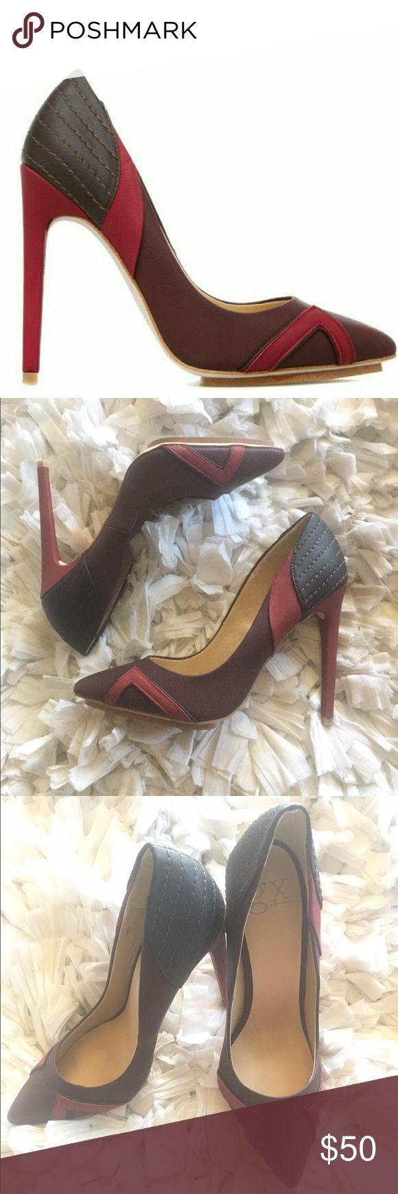 "GX by Gwen Stefani Yaro Heels NWOB GX by Gwen Stefani ""Yaro""//Absolutely beautiful heels//Heel is 4""//Fits narrow//Never been worn//New w/o box//Tiny ding on heel from storage(pictured). GX by Gwen Stefani Shoes Heels"