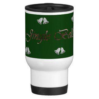 Silver Jingle Bells Christmas Travel Mug