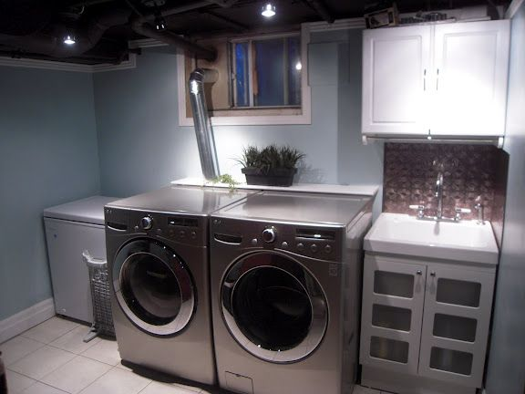 308 best images about for home on pinterest Basement laundry room remodel