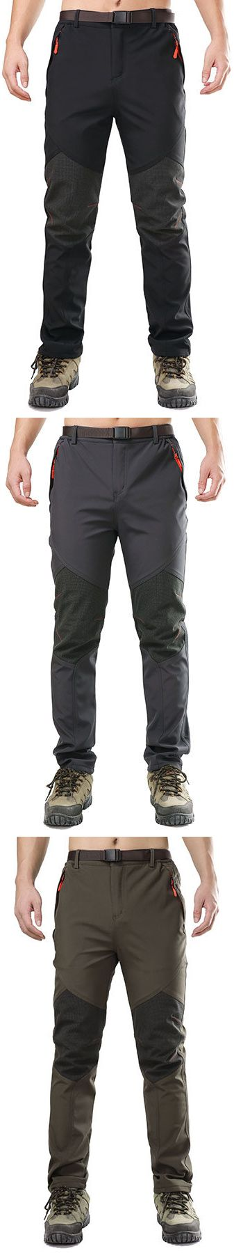 US$34.9 Mens Outdoor Windproof Waterproof Thicken Pants Breathable Thermal Trousers#pants #legging #style