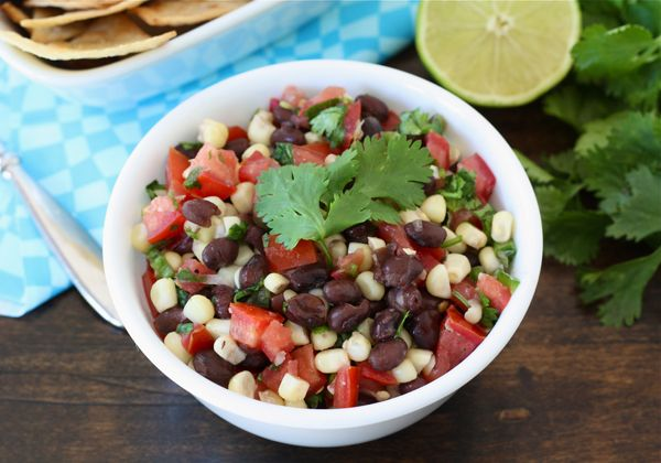 Black Bean Corn Salsa: I am not a big fan of things that require me to stock chips in the house but this honestly looks and sounds like something that would make a great side dish and I could just eat it with a spoon...no calories in spoons! :)