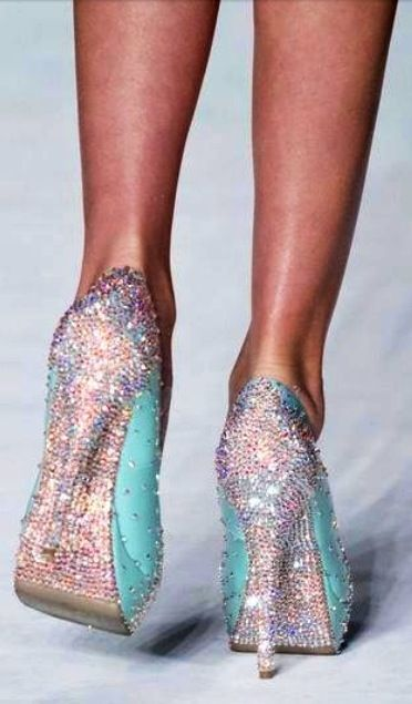 Tiffany blue opalescent shoes