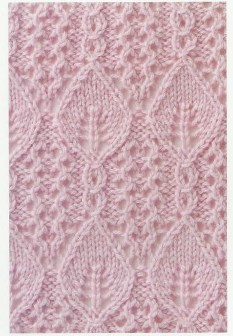 """Lace knitting stitch 72b and 2 more patterns plus explanation for the """"cable stitch"""" (K1, YO, K1, slip back to left needle, slip forth st over the three, put all 3 back to right needle) and a easier variation on that"""
