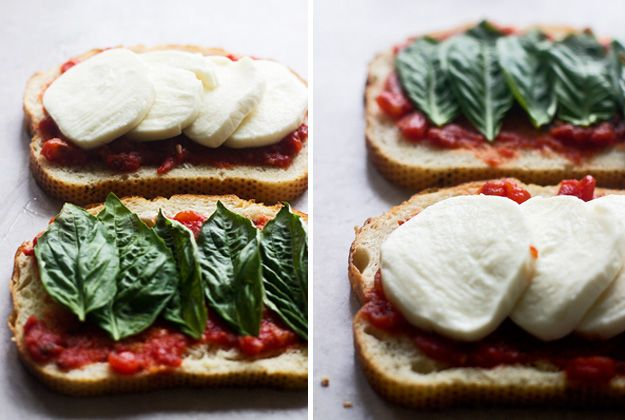 Pizza Margherita Grilled Cheese Ingredients Vegetarian Produce 1 cup Basil, leaves 1 Garlic clove, large 14 1/2 oz Tomatoes, fire-roasted canned Baking & Spices 1/4 tsp Salt 1 tbsp Sugar Oils & Vinegars 1 tsp Olive oil Bread & Baked Goods 8 slices Sourdough bread Dairy 3 tbsp Butter 16 oz Mozzarella cheese, fresh