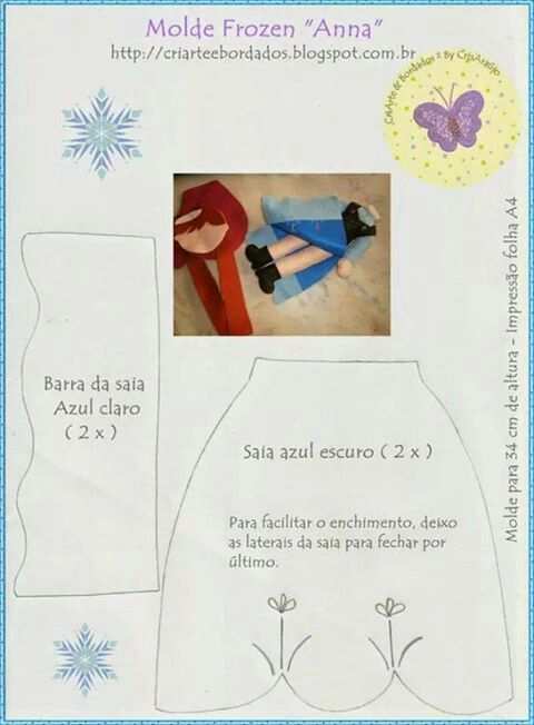 .Frozen - roupa Ana II