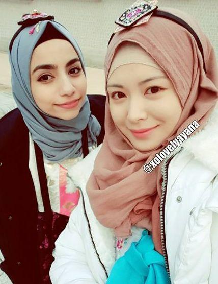 Model Hijab Ala Ayana Jihye Moon Wanita Cantik Berhijab Korea ...