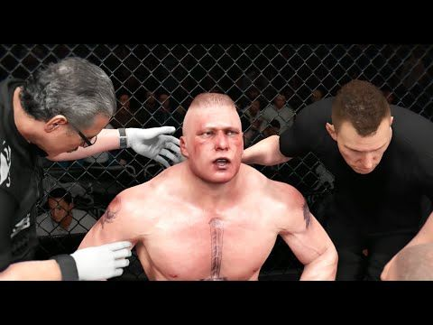 EA UFC (PS4): Brock Lesnar vs Daniel Cormier Heavyweight Full Match (New...