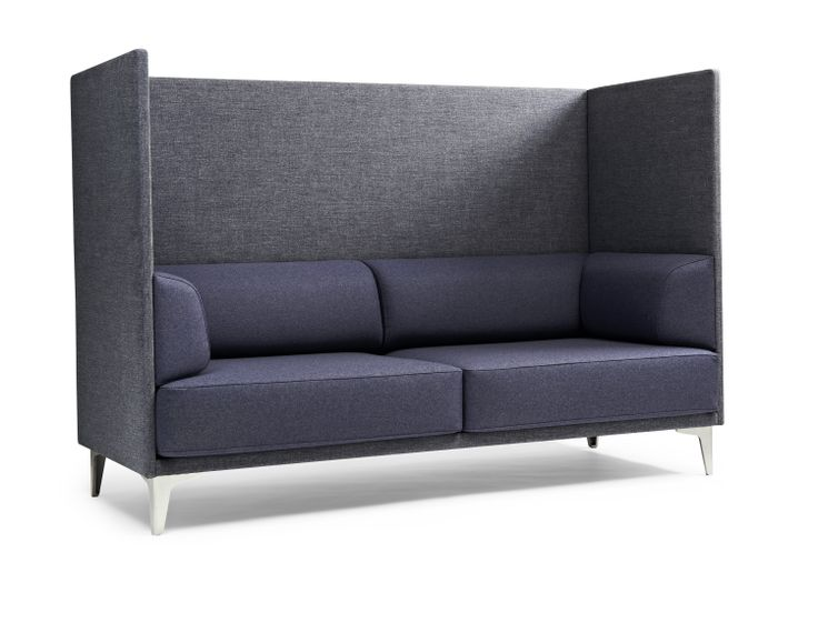 Apoluna is Erik Jørgensen's exclusive sofa series, created by the Swiss firm Studio Hannes Wettstein. The #ApolunaBox was born as a two and three seater, but since then, the series has added a big brother, the sofa Apoluna Box with high-backed panels that offer a cozy, sheltered nook. Apoluna's tight expression strikes a minimalist note, while the firm yet sculptural interior highlights the soft curves and new construction. Manufactured by #ErikJorgensen