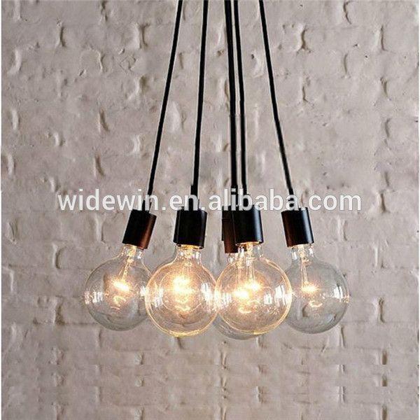 simple vintage edison bombillas de filamento de vidrio de luz de la lámpara de araña