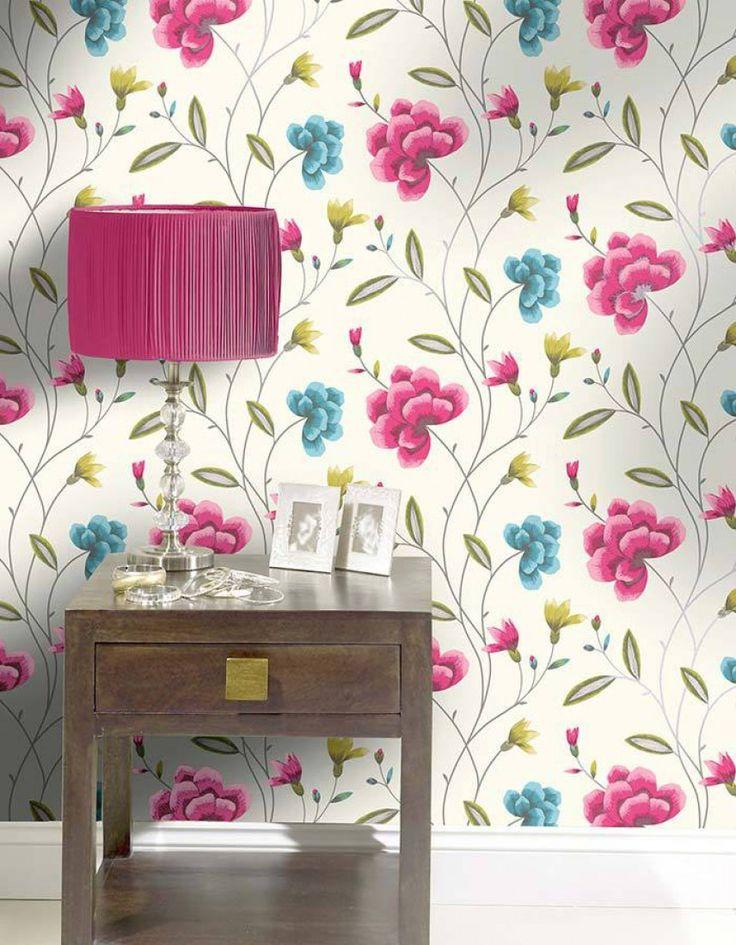 26 best floral print purple images on pinterest floral for Opus wallpaper range