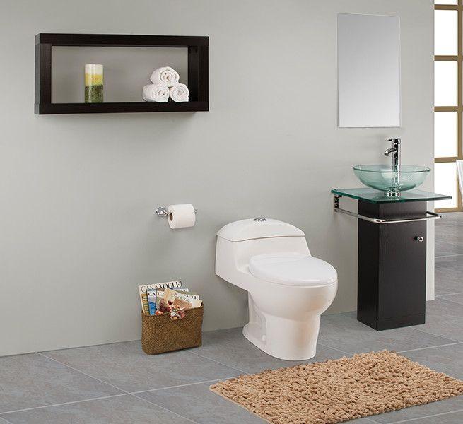 Para el baño de visitas te recomendamos un gabinete delgado con toallero para tener un espacio más amplio.