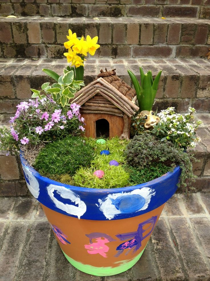 Practips diy container fairy garden activit enfants for How to make a fairy garden container