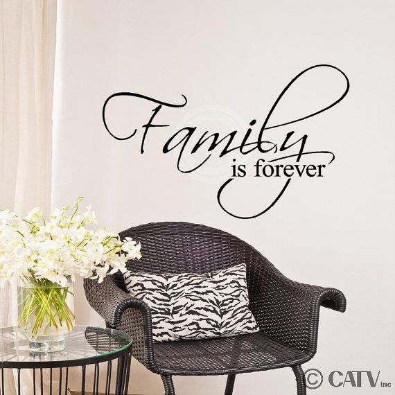Family Is Forever Vinyl Lettering Wall Sayings Word Art Home Decor