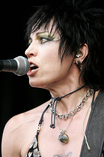 Joan Jett The Blackhearts during 2006 Vans Warped Tour Fitchburg at Fitchburg Airport in Fitchburg Massachusetts United States