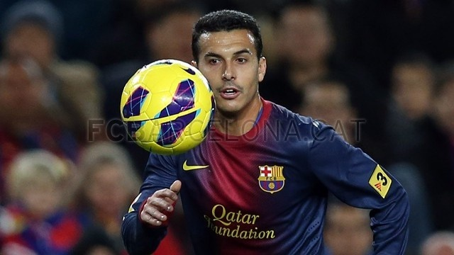 Pedro Rodriguez, FC Barcelona. | FC Barcelona 5-1 Osasuna. 2013-01-27.