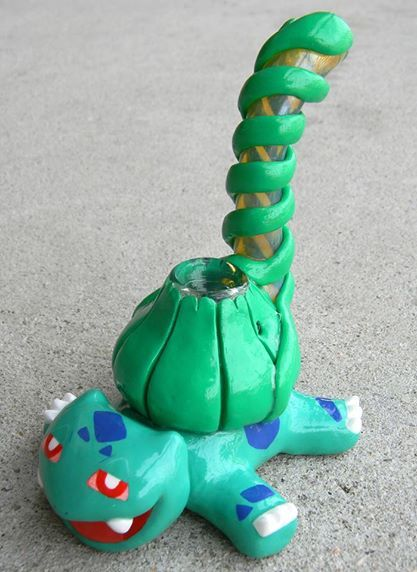 Bulbasaur sculpted bubbler by DeMatteo Art.
