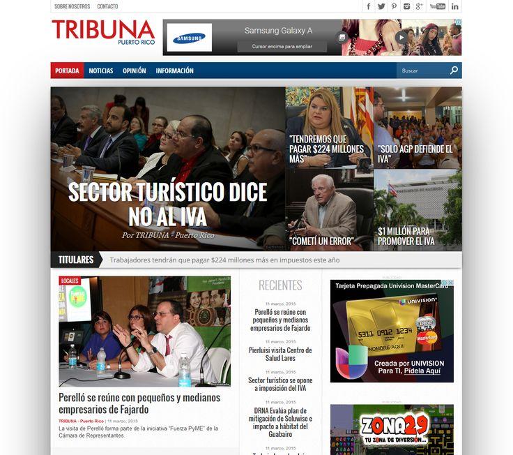 Marzo 11, 2015 - Visita www.tribunapr.com para las noticias importantes de hoy. Sin amarillismo ni relleno.
