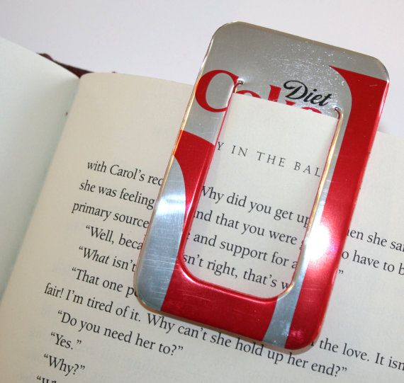 Diet Coke  BOOKMARK & PAPER CLIP Set  from by PopCanCreations, $5.00