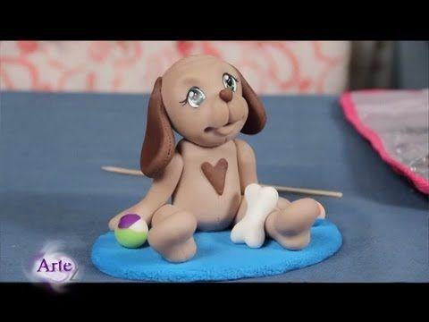 ▶ Cómo modelar un perrito en porcelana fría - YouTube