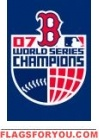 "Red Sox 7 time Champs Applique Banner Flag 44"" x 28"""
