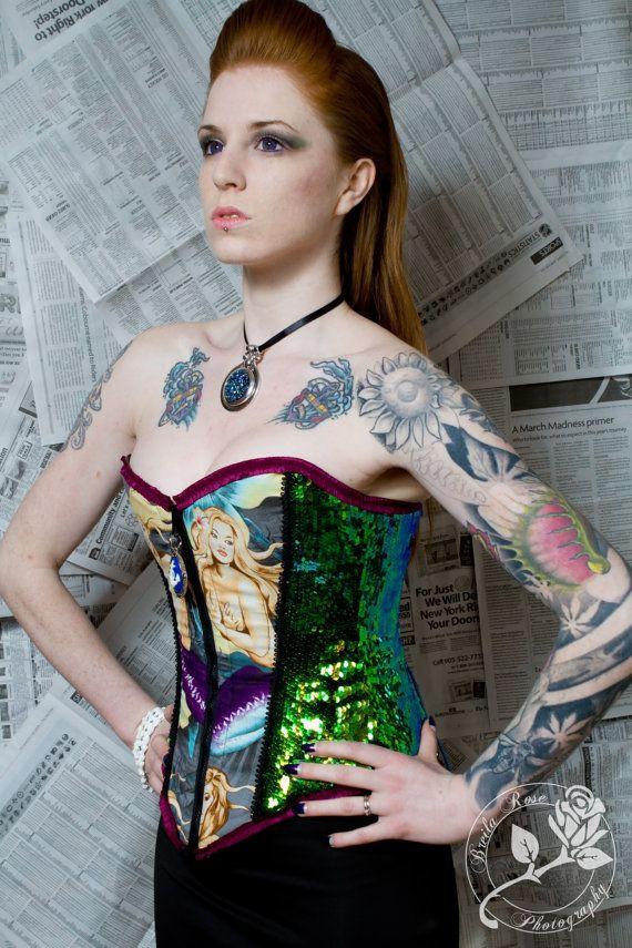 OOAK Mermaid Corset by fluffergirl on Etsy, $350.00
