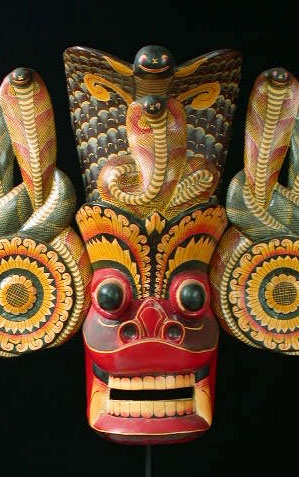 India mask - Old Gurulu, Sri Lanka, Ceylon
