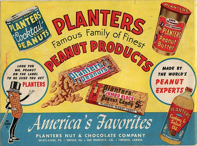 Planters Peanuts #graphicdesign #vintage #ads   .....................................Please save this pin.   ............................................................. Click on the following link!.. http://www.ebay.com/usr/prestige_online