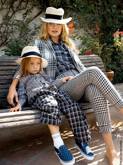{ http://images.huffingtonpost.com/gen/4854/original.jpg }: Matching Outfit, Katehudson, Style, Mothers Sons, Kate Hudson, Daughters, Vogue Magazines,  Piano Accordion, Patterns Mixed