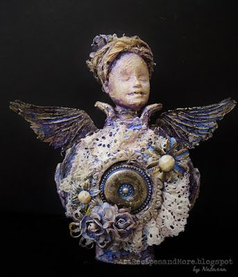 Art Recipes and More: Altered Perfume Bottle