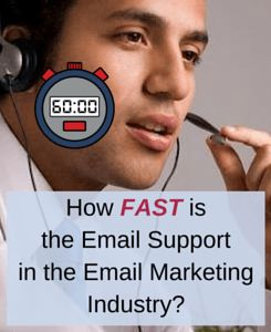 Most email marketing companies provide a quality support. However, when it comes to how fast the support is provided, quite big differences can be noticed.