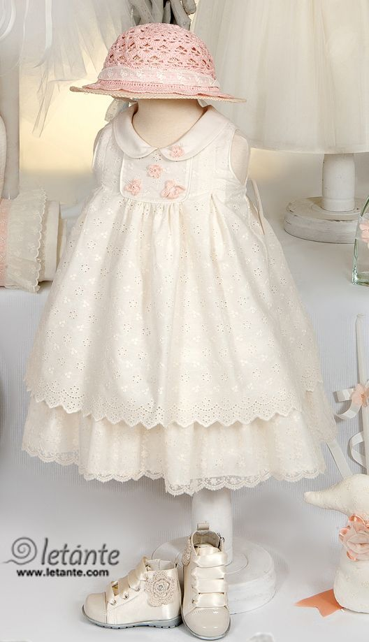 Christening - special occasion baby dress Βαπτιστικο φορεμα Letante
