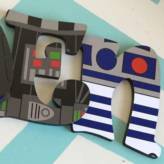 Custom decorada Letras de madera Star Wars por NiftyNancyDesigns