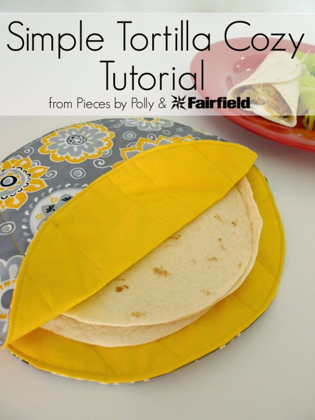 DIY Sewing Projects for the Kitchen - Simple Tortilla Cozy - Easy Sewing Tutorials and Patterns for Towels, napkinds, aprons and cool Christmas gifts for friends and family - Rustic, Modern and Creative Home Decor Ideas http://diyjoy.com/diy-sewing-projects-kitchen