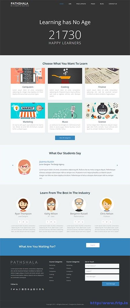 New Review: Pathshala WordPress Theme For LearnDash Review By WisdmLabs Pathshala WordPress theme is specifically created for LearnDash; a featured pack learning management system plugin (LMS) which allow you to set up and sell courses, deliver quizzes, award certificates, and download user report. Grab your copy now: http://www.frip.in/pathshala-wordpress-theme/ #LearnDash #LMS #Theme