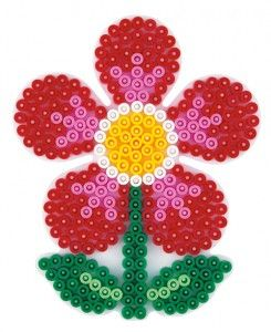 hama bead designs on flower peg board - this is just one of many
