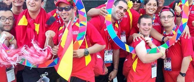Un selfie de sportifs espagnols, des jeux olympiques spéciaux 2015 à Los Angeles !