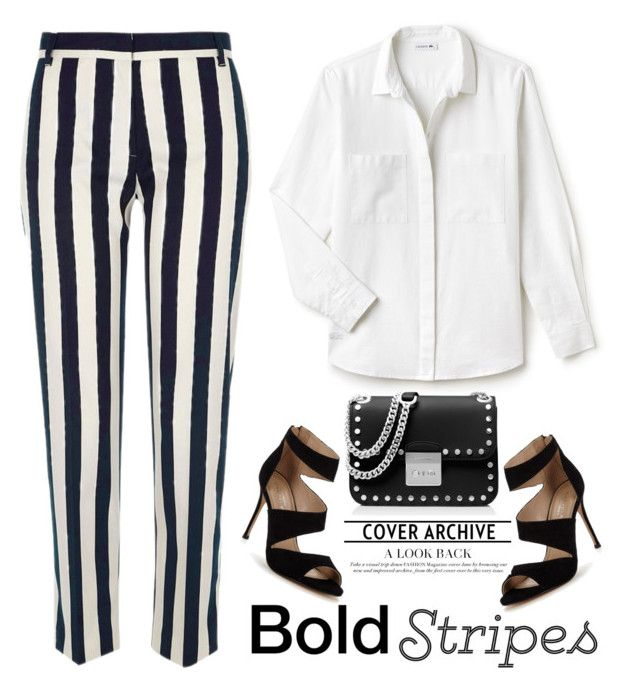 Stripes by pamela-802 on Polyvore featuring Lacoste, River Island, Carvela, MICHAEL Michael Kors and stripedpants