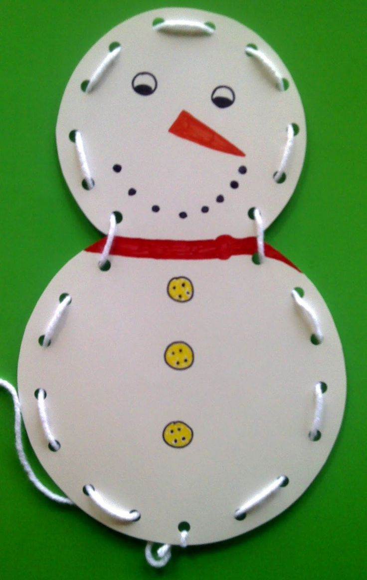 Crafts For Preschoolers: Winter Crafts (Snowman Lace activity)