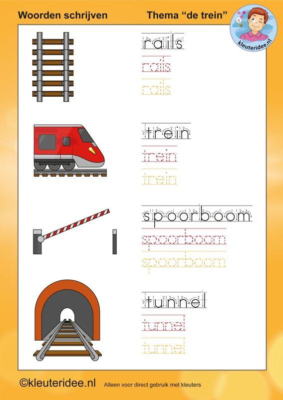 schrijven met kleuters thema de trein kleuteridee nl