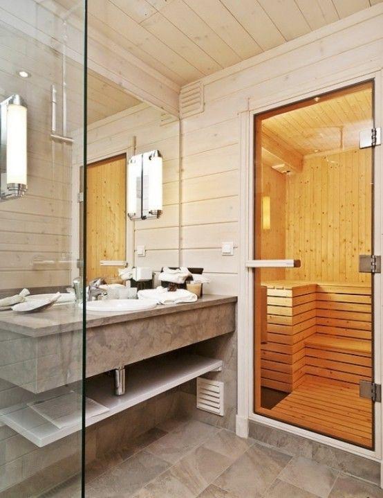 Sauna and wash place
