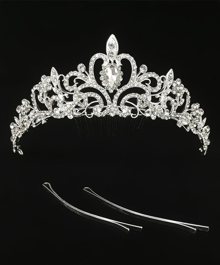 Take a look at this Silver Bridal Princess Crown Comb today!
