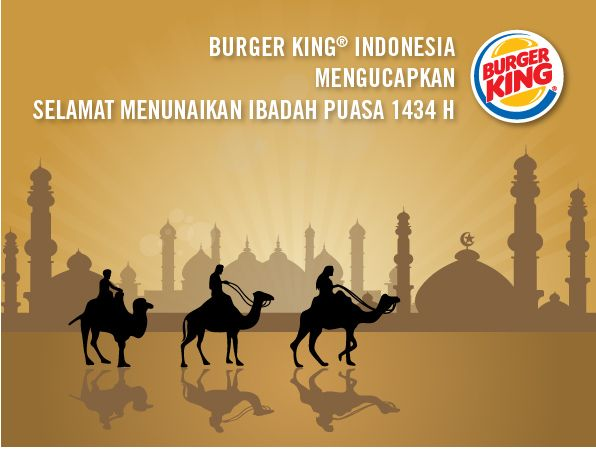 Burger King wishes you a Happy Ramadhan!