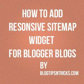 Tech Time: Sitemap Widget for blogger blogs