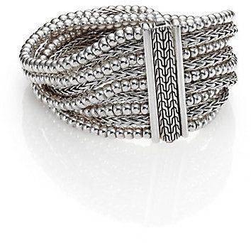 John Hardy Bedeg Sterling Silver Multi-Row Bracelet on shopstyle.com