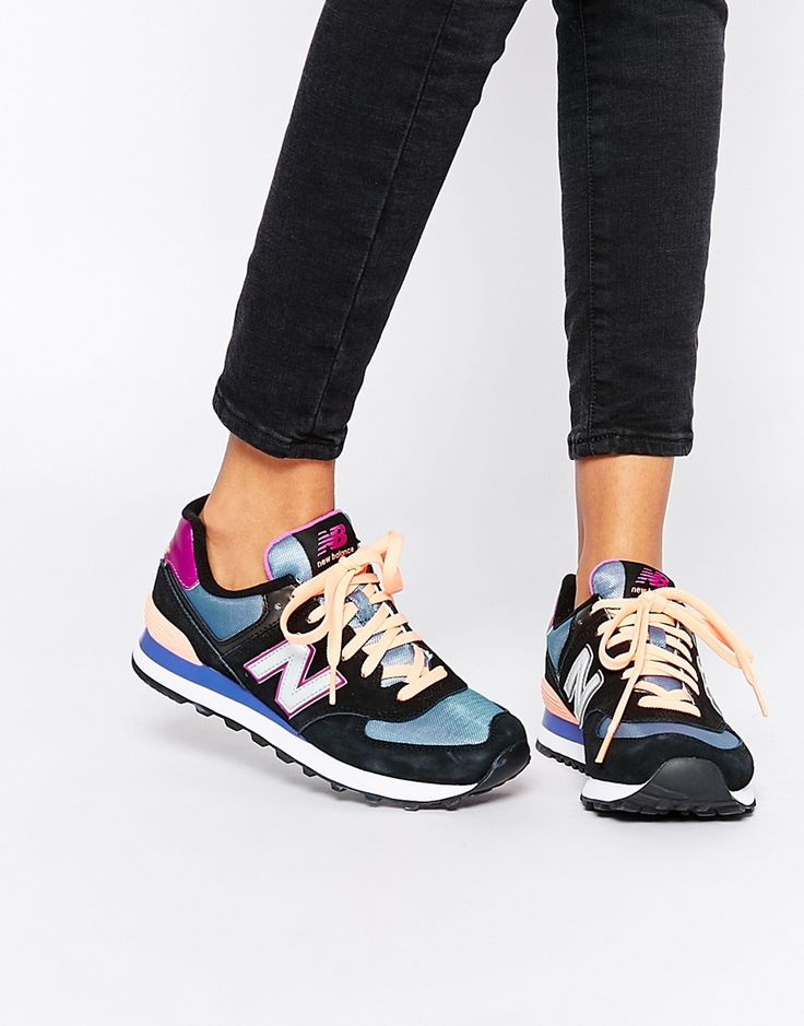 http://www.fashiontrendstoday.com/category/new-balance/ Image 1 of New Balance 574 Multi Colour Trainers